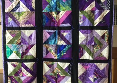 Grand Valley WELCA – Canton, SD, Vicki's Gift, Pieced & tied, Purples