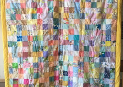 Grace Lutheran – Luverne MN, My cuddle Blanket, Pieced & tied, 60x80 Multi colored