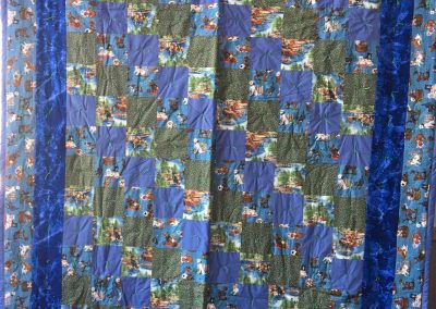 Lucille Magnus – Avoca MN, Cats & Dogs, Tied, 76x96 Blues