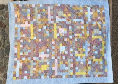 Wendy Haney & JoAnn Petersen – Tracy MN, Sherbet Punch, Pieced & machine quilted, 66 ½ x 80, blue, pink, green and yellow