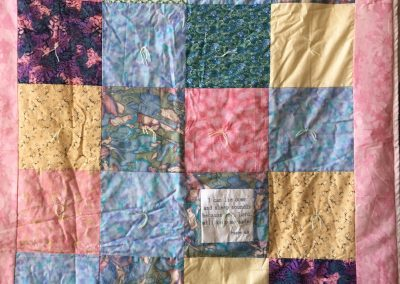 Good Shepherd – Lake Wilson MN, The Psalm Quilt, Pieced & tied, 47x57 various pastels