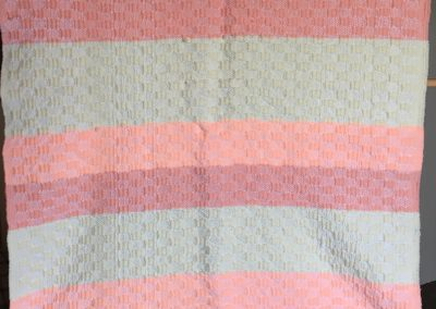 Connie Schwartau – Balaton MN Name - Baby Quilt Hand woven Colors - yellow and peach