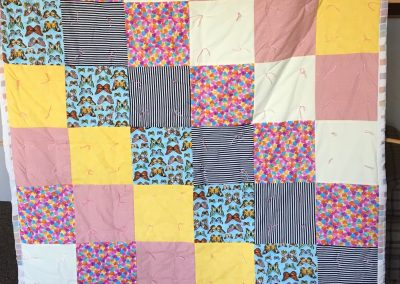 Zion Lutheran Quilters - Garretson SD Name – Hearts and Butterfly's 60x80 Pieced and tied Colors – multi