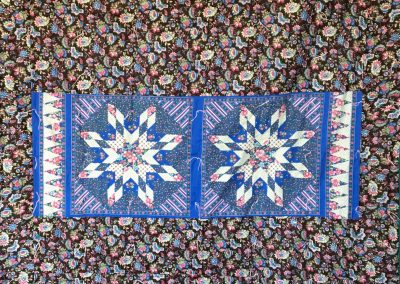 Zion Lutheran Quilters – Garretson SD Name - Flowers Galore  Pieced and tied Colors – Green, brown, pink and blue