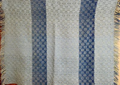 Baby Blue  - 40x32 – Hand Woven – Light & Medium blue – Made by Connie Schwartau – Balaton, MN