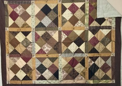 Fall is in the Air – 54x71 – Pieced & Tied – Brown/tan – Made by Brandon Lutheran WELCA – Brandon, SD