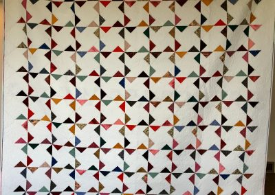 Pinwheel Party – 86x93 – Pieced & Machine Quilted – Brights & Whites  - Made by the Shetek Grateful Threads -  Slayton, MN