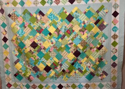 Sunny Garden - 74x91 - Machine quilted - Pastels - Made by Willow Creek Quilters - Dell Rapids, SD