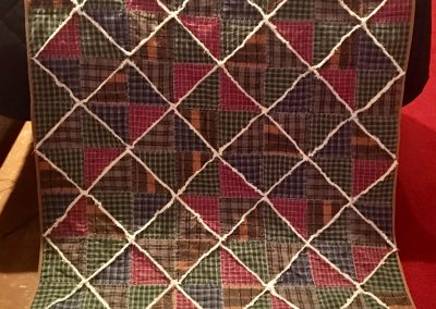 Homespun – 55x61 - Pieced and Machine quilted – Fall colors and white – Made By Connie Anderson -  Tracy, MN