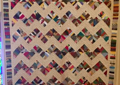 Crooked Trails – 82x90 – Pieced & Machine Quilted – Multi Colors – Made by Tracy Lutheran Quilters – Tracy, MN