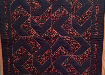 Solar Sunset – 32x32 – Pieced & Machine Quilted – Fall colors  - Made by Connie Anderson – Tracy, MN