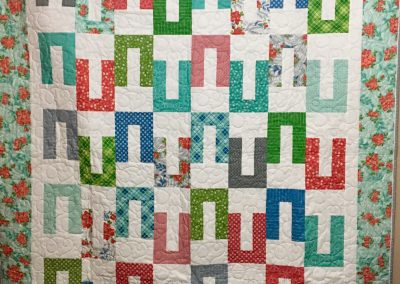 Iceberg by Villa Rosa -62x74 -  Machine Quilted - Multi, Turquoise, grey  backing - Made by Renae Stassen - Marshall, MN