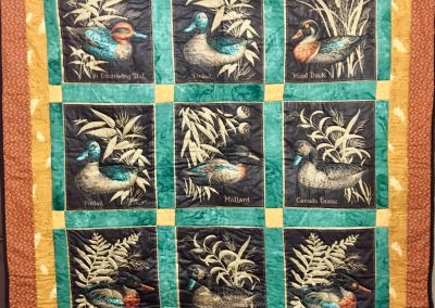 Birds of a Feather Flock Together – 50x52 - Pieced & Machine Quilted – Brown & Orange – Made by Berdena Buys – Slayton, MN