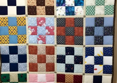 Tic Tac Toe – 38x56 ½ - Multi color – Pieced & Machine Quilted – Made by Ruth Koehler – Slayton, MN