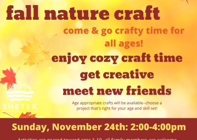 Fall Nature Craft Day
