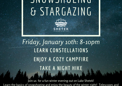 Snowshoeing and Stargazing